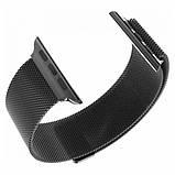 Металлический ремешок Milanese для Apple Watch 38/40/42/44 мм Black (HbP050595), фото 2