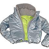 ОПТОМ Куртка жіноча зимова з трикотажної вставкою і капюшоном з плащової тканини жатки хамелеон, різні кольори, фото 9