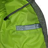 ОПТОМ Куртка жіноча зимова з трикотажної вставкою і капюшоном з плащової тканини жатки хамелеон, різні кольори, фото 10