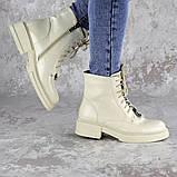 Ботинки женские Fashion Patchy 2163 36 размер 23,5 см Бежевый, фото 2