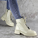 Ботинки женские Fashion Patchy 2163 36 размер 23,5 см Бежевый, фото 3