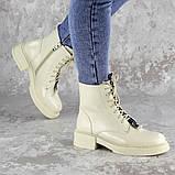 Ботинки женские Fashion Patchy 2163 36 размер 23,5 см Бежевый, фото 5