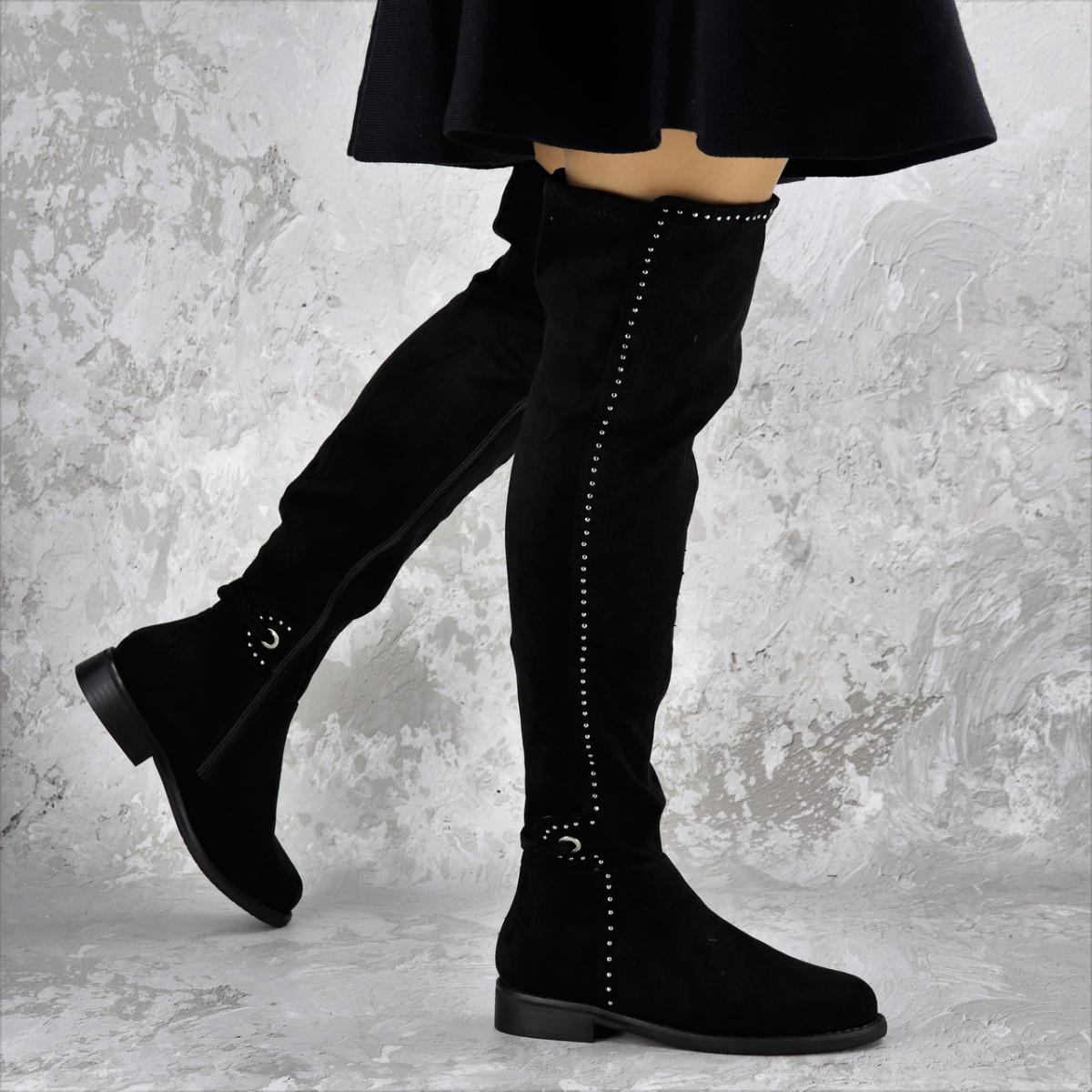 Женские ботфорты Fashion Dave 1348 36 размер 23 см Черный