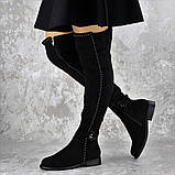Женские ботфорты Fashion Dave 1348 36 размер 23 см Черный, фото 3