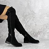 Женские ботфорты Fashion Dave 1348 36 размер 23 см Черный, фото 4