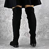 Женские ботфорты Fashion Dave 1348 36 размер 23 см Черный, фото 5