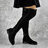 Женские ботфорты Fashion Dave 1348 36 размер 23 см Черный, фото 6