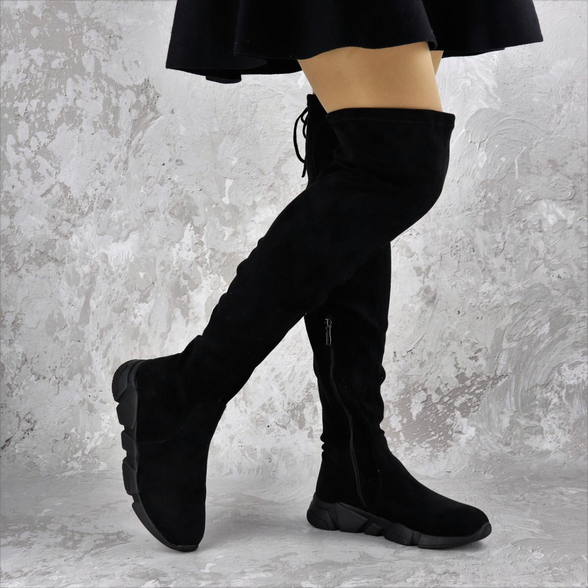 Женские зимние ботфорты Fashion Fabio 1364 36 размер 23 см Черный