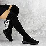 Женские зимние ботфорты Fashion Fabio 1364 36 размер 23 см Черный, фото 3