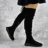 Женские зимние ботфорты Fashion Fabio 1364 36 размер 23 см Черный, фото 4