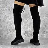 Женские зимние ботфорты Fashion Fabio 1364 36 размер 23 см Черный, фото 5