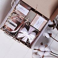 Подарочный набор цвета Rose Gold для девушки: корейская косметика и расческа tangle teezer