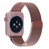 Ремешок BeWatch Milanese Loop для Apple Watch Series 5/4/3/2/1 42mm/44mm + силиконовый чехол Rose Gold (Amaz0013), фото 4
