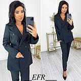 Женский костюм с пиджаком на пуговицах 50-573, фото 2
