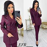 Женский костюм с пиджаком на пуговицах 50-573, фото 8