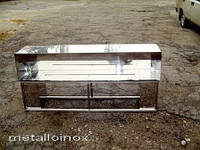 Камин из нержавейки под заказ / Metalloinox