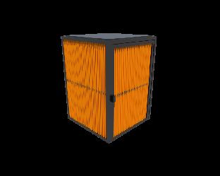 Пергола на 1 контейнер закрытая Kidigo