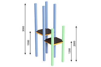 Башня 3м (1,5)+ 2м (0,9) Kidigo (59013)