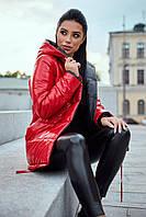 Куртка женская, цвет: красный с черным, размер: S, M, L, XL