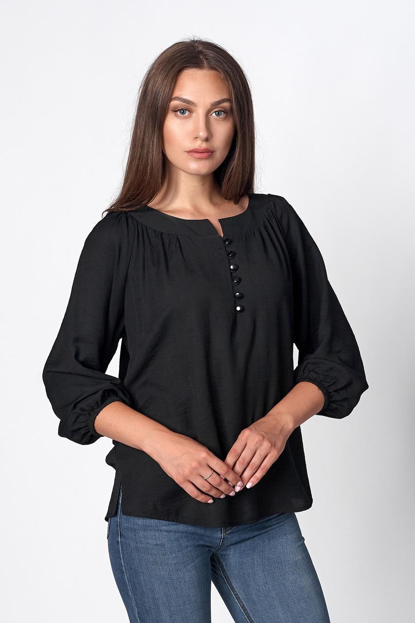 Блуза жіноча, колір: чорний, розмір: 42-44, 46-48, 50-52