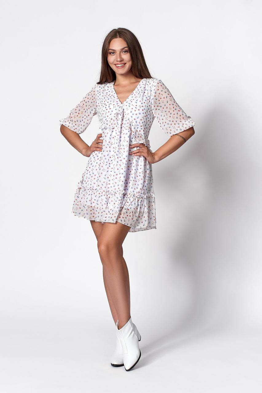 Сукня жіноча, колір: білий, розмір: 44, 46, 48, 50