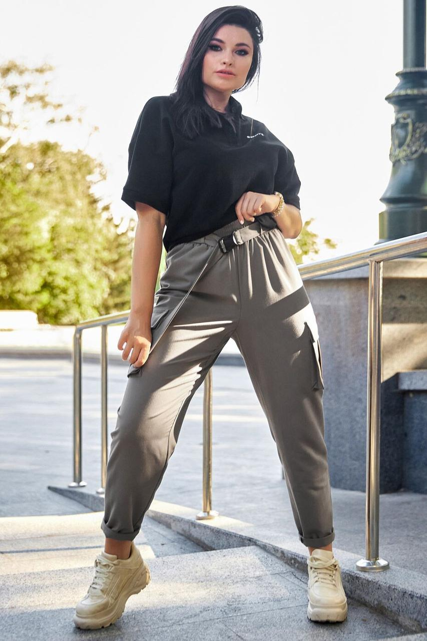 Штани жіночі, колір: кава, розмір: 2XL, XL, L