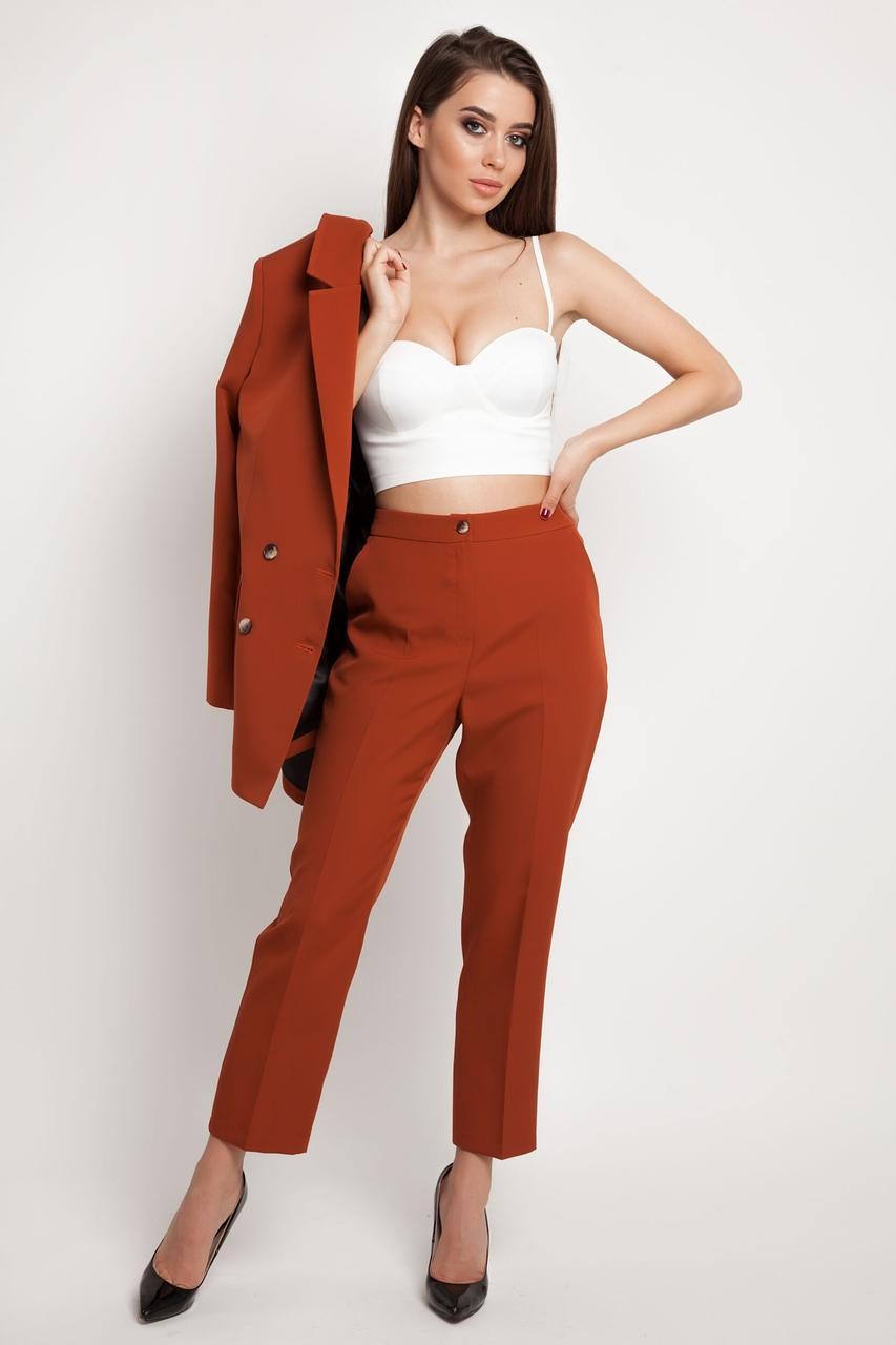 Штани жіночі, колір: теракотовий, розмір: 42, 44, 46, 48, 50