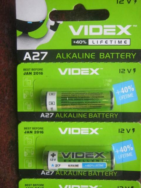 БАТАРЕЙКА Videx A27 Blister Card