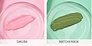 Маска для лица Laikou 2 в 1 японская вишня и чай матча 3 g х 3 g, фото 3