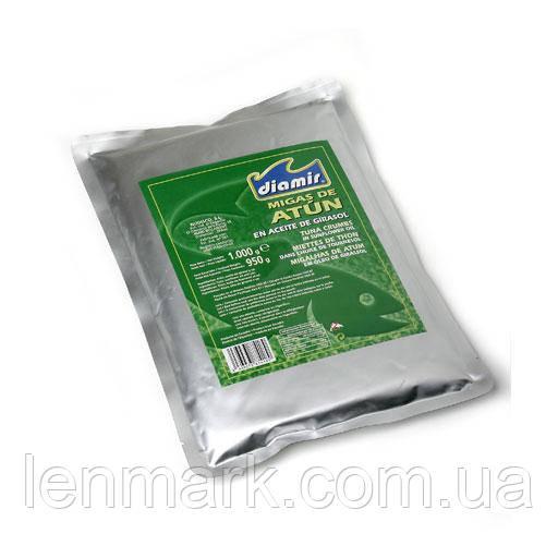 Тунец дроблений DIAMIR в подсолнечном масле Migas de Atun en aceite de girasol, 1 кг
