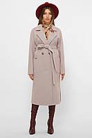 Женское пальто демисезонное бежевого цвета MS-265, фото 1