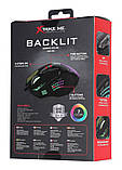 Мышь проводная игровая XTRIKE ME Gaming Backlight GM-216, черная, фото 4