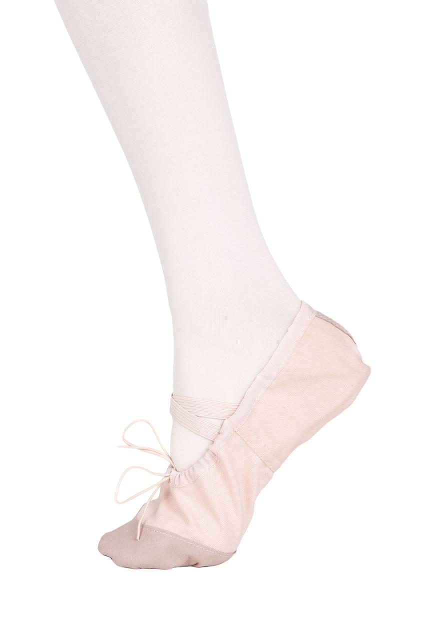 Балетки танцевальные с кожаным носком и кожаной подошвой Dance 011, розовый