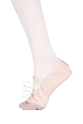 Балетки танцевальные с кожаным носком и кожаной подошвой Dance 011, розовый, фото 2