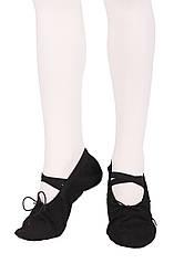 Балетки Dance 021 черные Кирза