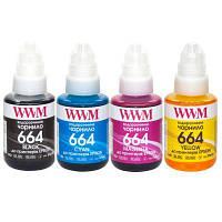 Чернила WWM Epson L110/L210/L300, 4х140г B/C/M/Y (E664SET4)