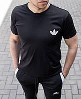 Мужская футболка Adidas чёрная , Турция, фото 1
