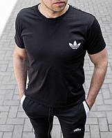 Мужская футболка Adidas чёрная , Турция