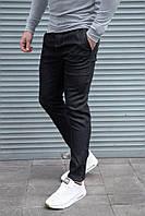 Мужские стрейчевые джинсы чёрные, фото 1