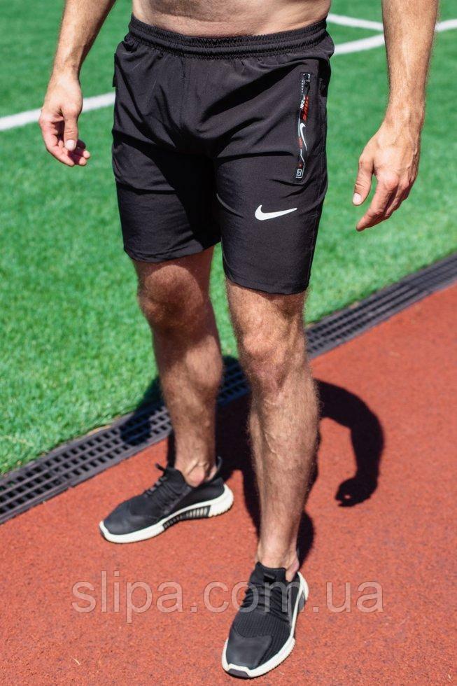 Мужские чёрные шорты Nike из плащевки