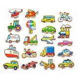 Набор магнитов Viga Toys Транспорт, 20 шт. (58924), фото 3