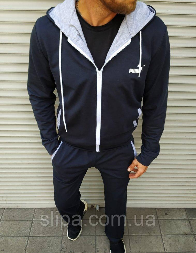 Мужской спортивный костюм Puma тёмно синий