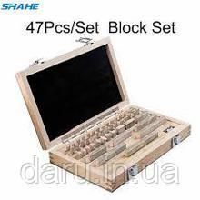 Кінцеві міри довжини Shahe Block-47 (1-100мм/0 клас точності) - 47 шт. З сертифікатом про калібрування