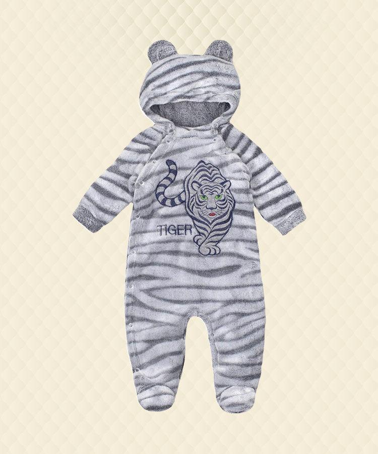 Комбинезон ясельный Амурский тигр вышивка велсофт