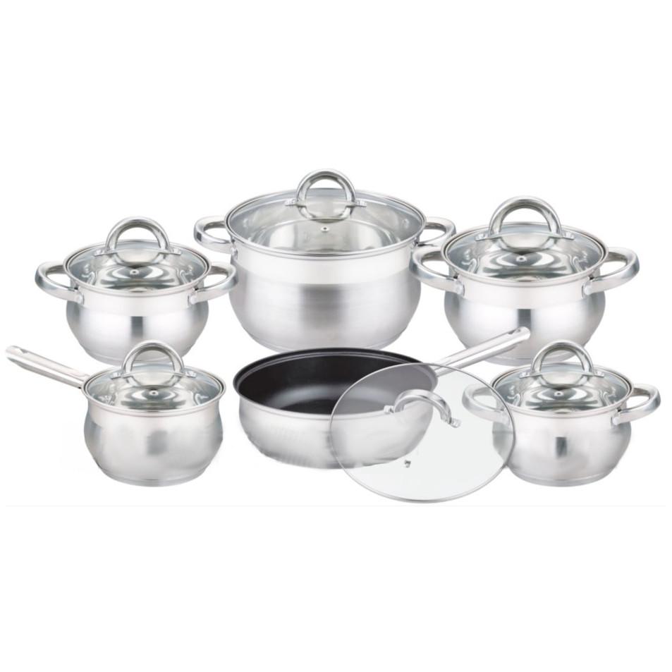 Набор посуды из нержавеющей стали 12 предметов Edenberg EB-3720 с 9-слойным дном