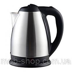 Электрический чайник Domotec DM-0555 металлический чайник (электрочайник на 2 литра с нержавеющей стали)