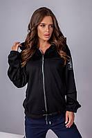Куртка-бомбер черного цвета, фото 1
