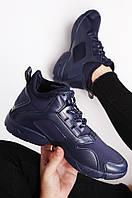 Кроссовки женские утепленные синие размер 36