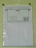 Канва (аида 14) для вышивания, белая (32*45 см)