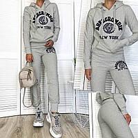 1109-1 серый женский спортивный костюм из двунитки (M,L,XL, 3 ед.), фото 1